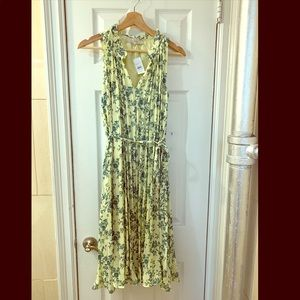 LOFT colorful floral pleated dress. XS/S